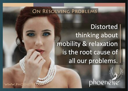 On Resolving Problems in Living Light, a book about finding true faith: Distorted thinking about mobility in relaxation is the root cause of all our problems.